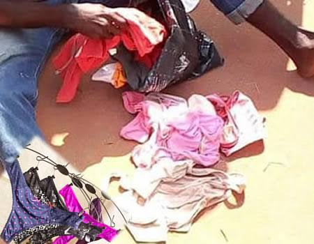 Photo of Yahoo Boys Caught Picking Lady Pants, Bras In Lagos