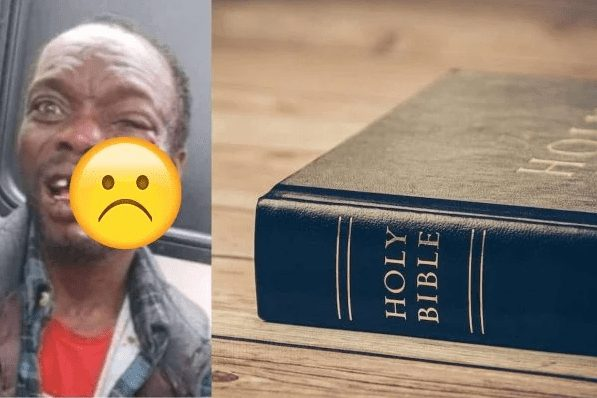 Photo of Man preaching in a bus got beaten to coma after condom dropped off his Bible