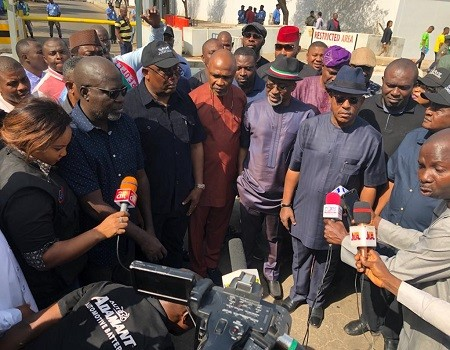 Photo of PDP, lawmakers protest at EU, US, UK embassies