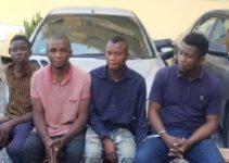 police parade robbers