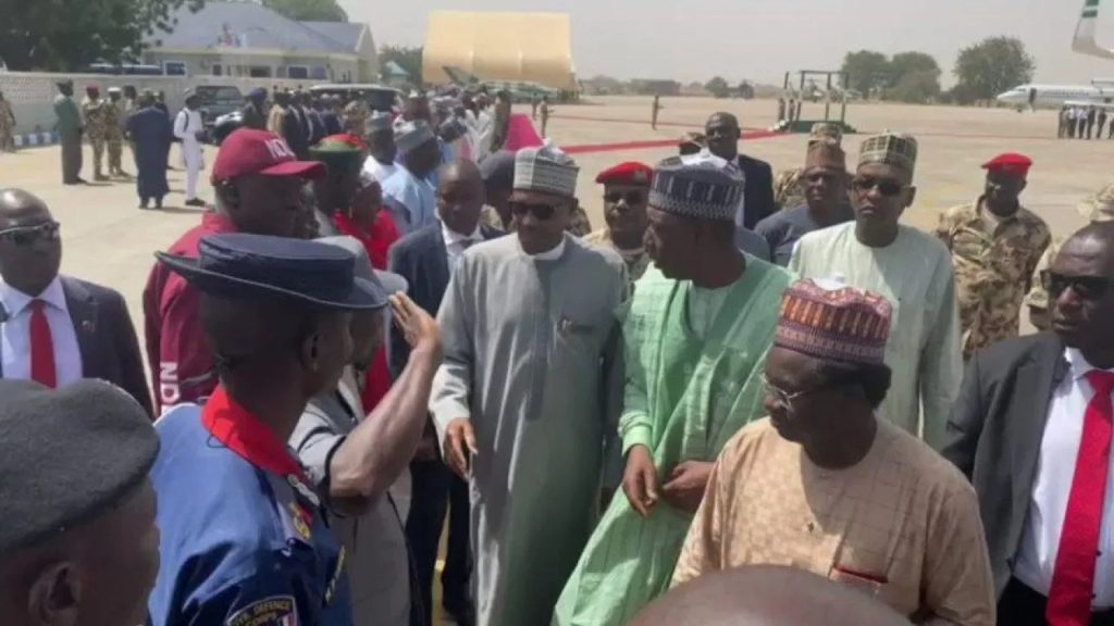 Photo of President Buhari arrives Maiduguri over Boko Haram attack