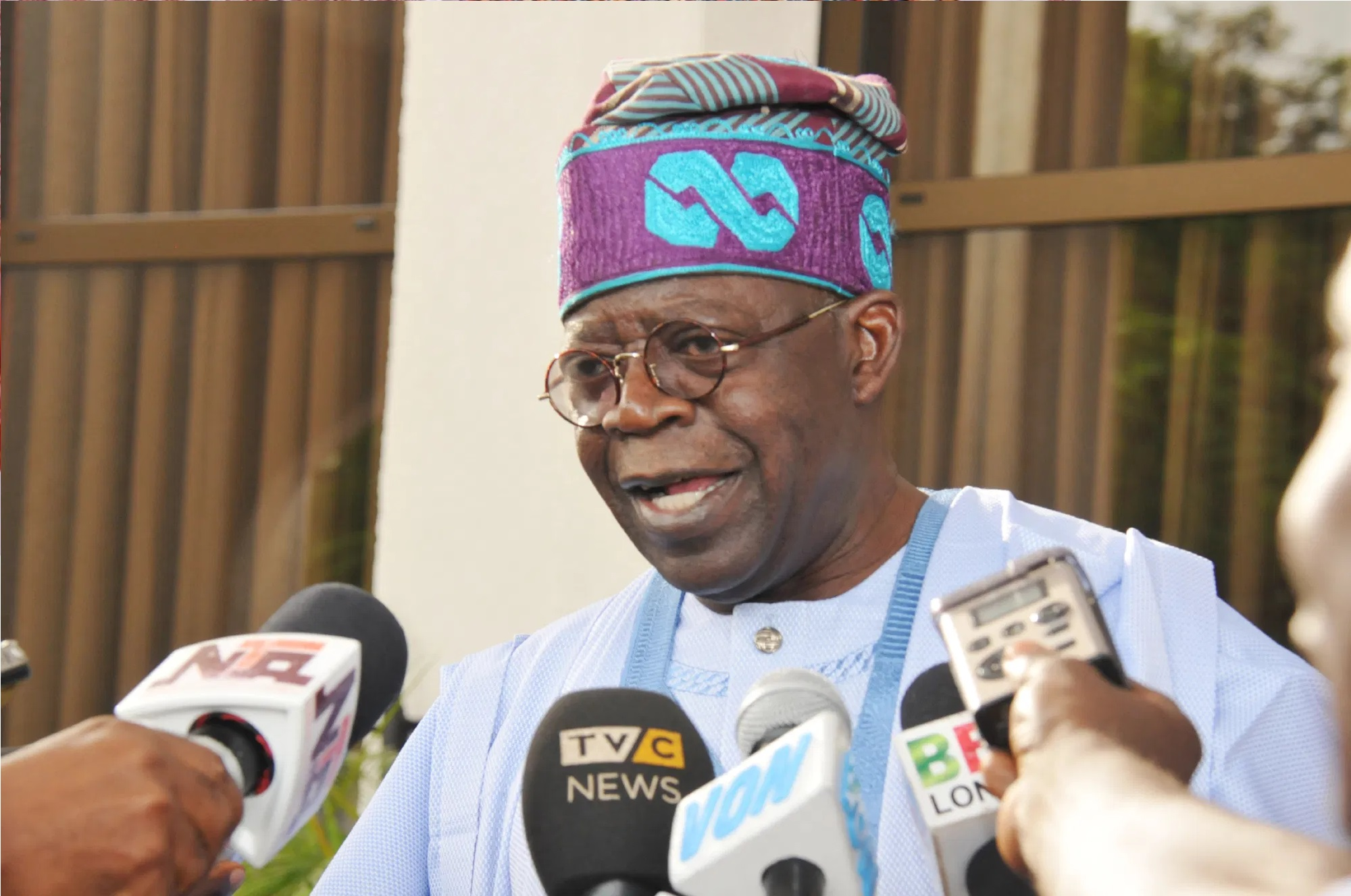 Tinubu sends message to Buhari