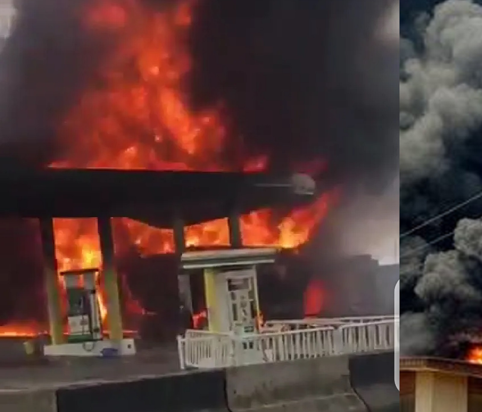 Photo of BREAKING: NNPC Petrol Station on Fire in Ogba, Lagos [VIDEO]