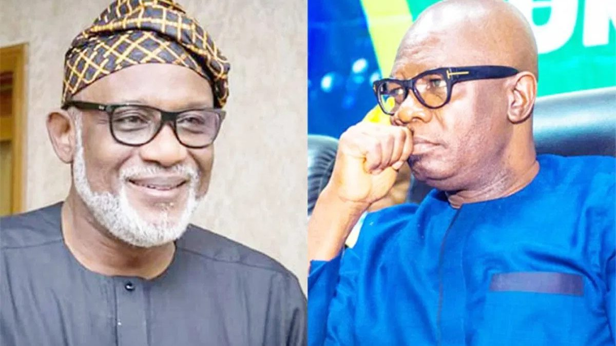Photo of Akeredolu sacks all his Deputy's aides, plot to impeach Deputy