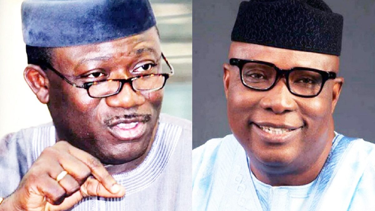 Photo of Gov Fayemi's Party Excos, backfires over plot to suspend Ojudu