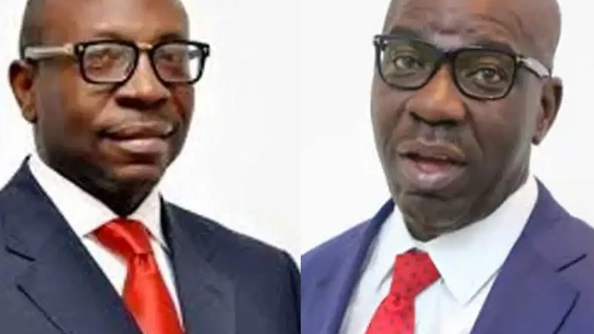 Photo of Edo Guber: INEC displays Obaseki, Ize Iyamu forms