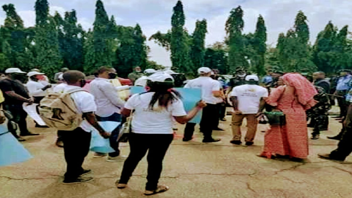 Photo of PHOTOS: N-Power beneficiaries protest over delay June stipends