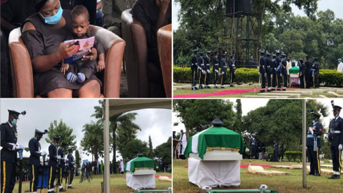 Photo of PHOTOS: Tears as Gov Bello, Ministers, Top Military Officials pay final respects to Tolulope Arotile