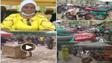 Photo of VIDEO & PHOTOS: PDP Senator distributes Motorcycles, Refrigerators, Tractors, Others in Ekiti